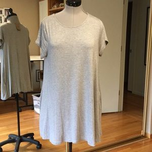 Gray Tee Shirt Dress New Medium Pockets